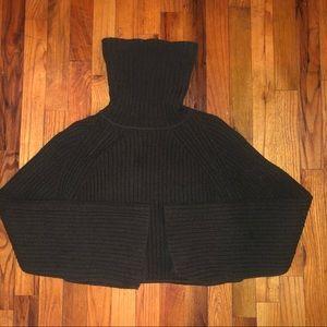 A.L.C green turtleneck crop sweater